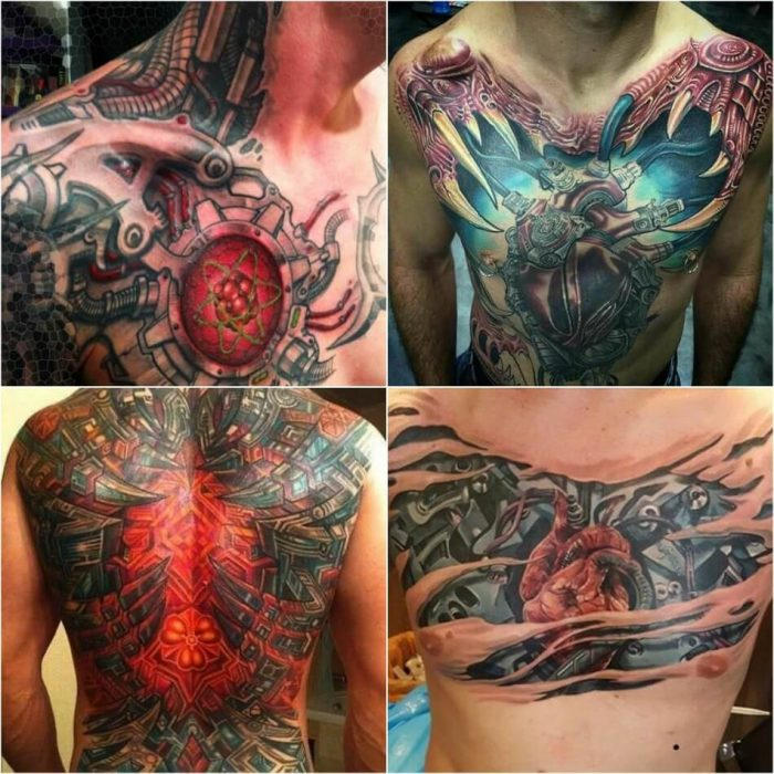 biomechanical tattoo - biomechanical tattoo chest - 3d realistic biomechanical tattoos