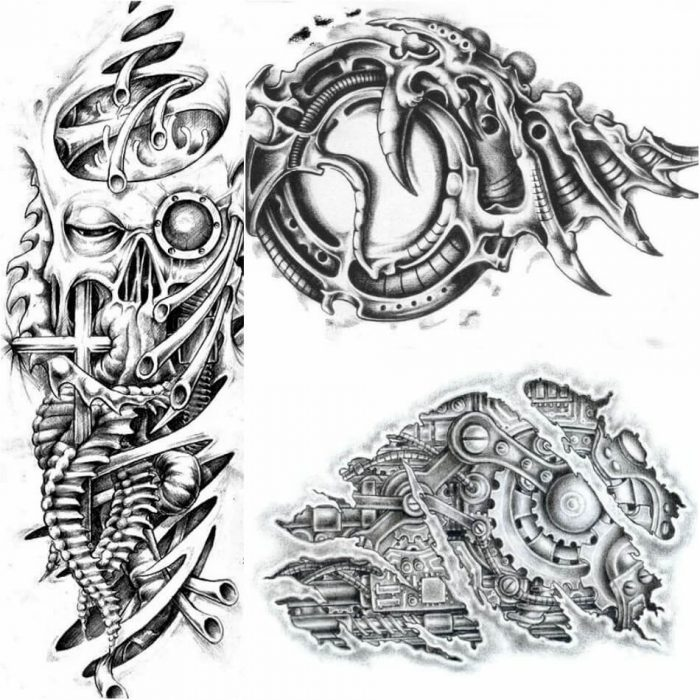 biomechanical tattoo drawings - biomechanical tattoo - 3d biomechanical tattoos