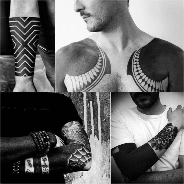 blackwork tattoo cover up - blackwork tattoo - geometric blackwork tattoos
