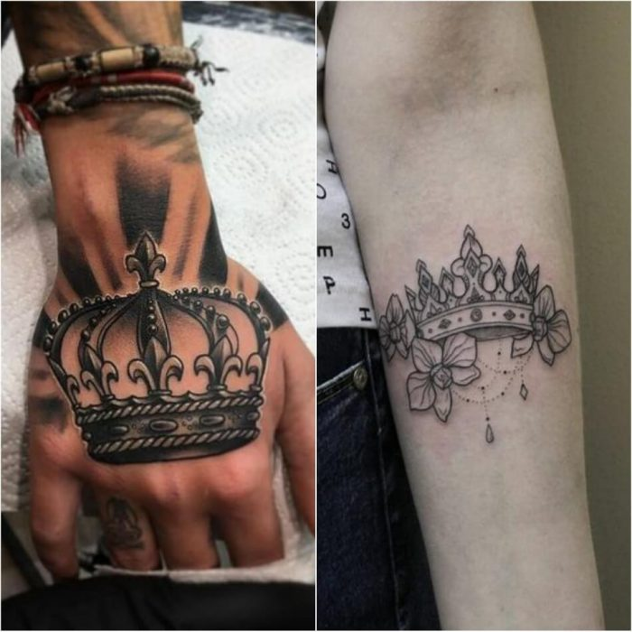 crown tattoo - crown tattoos on hand - king crown tattoo