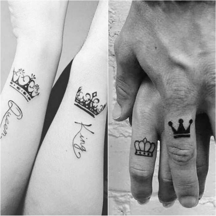 crown tattoo - simple crown tattoos - couple crown tattoos