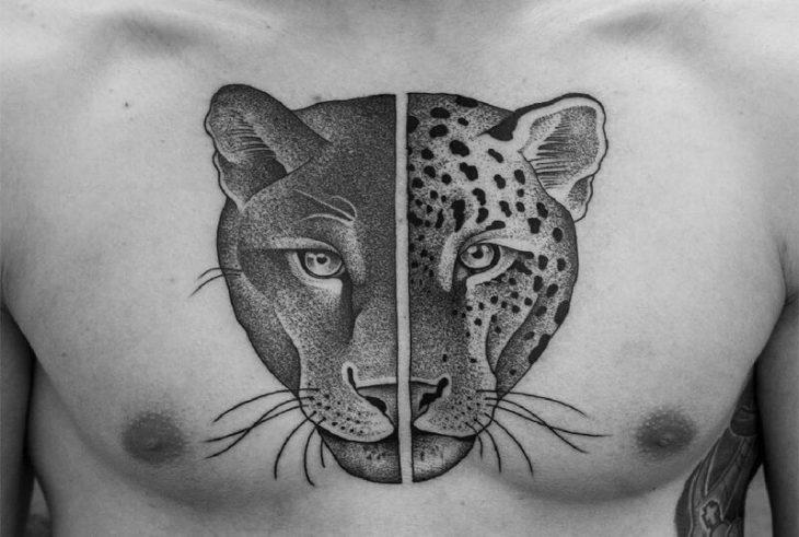 dotwork tattoo - dotwork geometric tattoo - dotwork tattoo animals