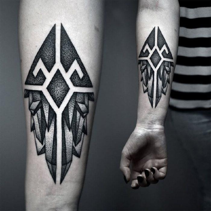 dotwork tattoo - dotwork geometric tattoo - dotwork tattoo for men