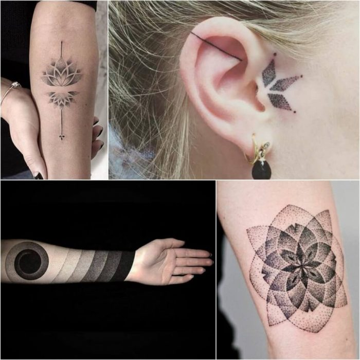 dotwork tattoo - dotwork geometric tattoo - dotwork tattoo ideas