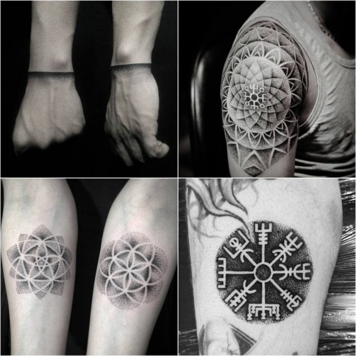 dotwork tattoo - dotwork tattoo ideas - dotwork tattoo for men
