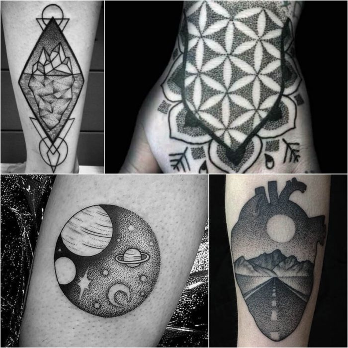 dotwork tattoo - dotwork tattoo ideas - dotwork tattoo simple