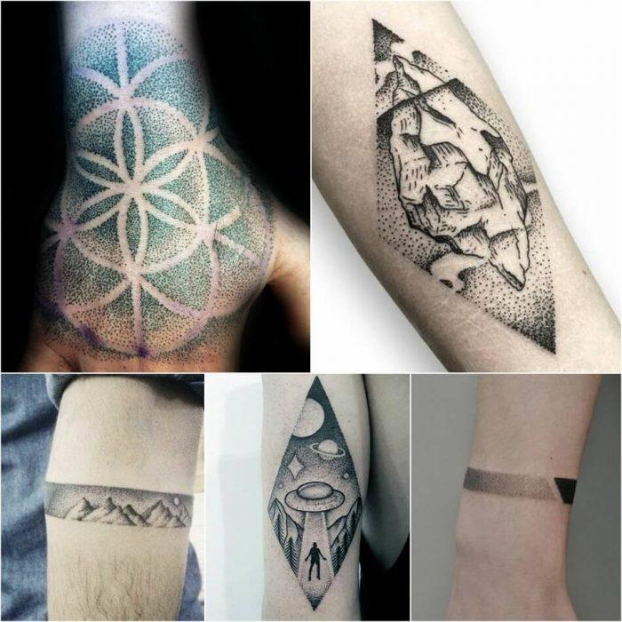 dotwork tattoo - dotwork tattoo ideas - simple dotwork tattoo ideas