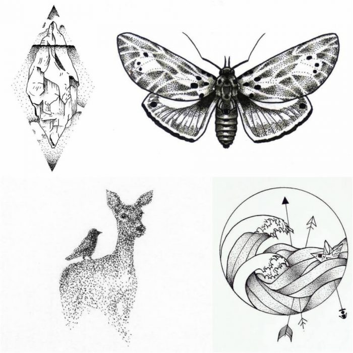 dotwork tattoo - dotwork tattoo technique - dotwork tattoo designs