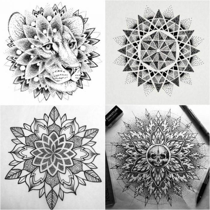dotwork tattoo - dotwork tattoo technique - dotwork tattoo designs