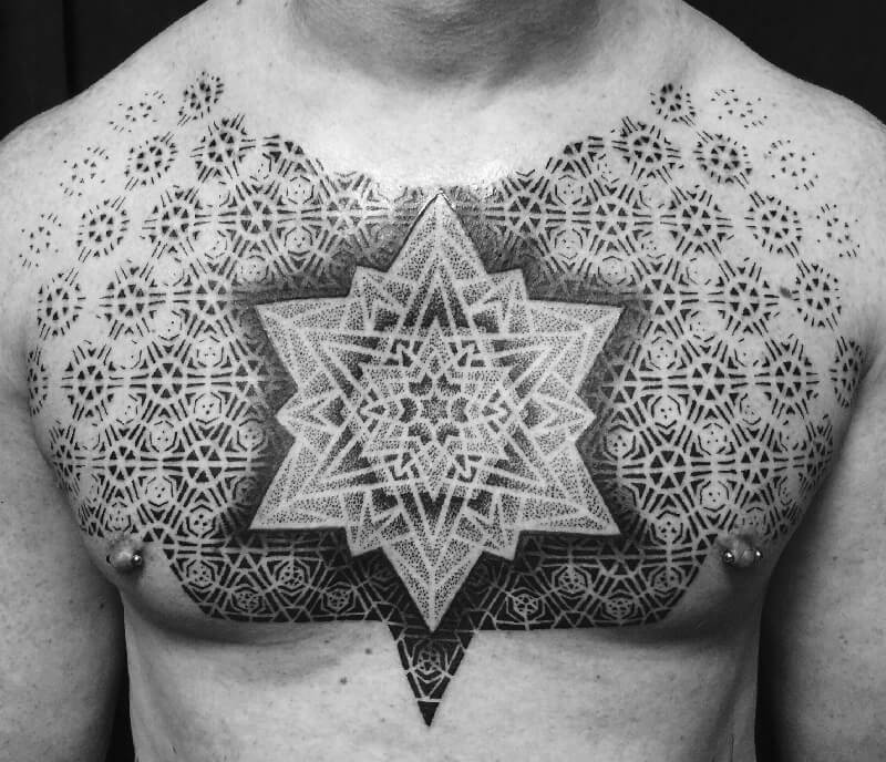 dotwork tattoo mandala - dotwork tattoo - dotwork geometric tattoo