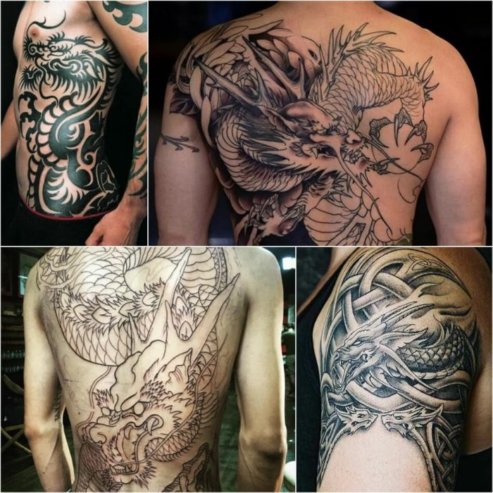 dragon tattoos - chinese dragon tattoos for men - dragon tattoos on back