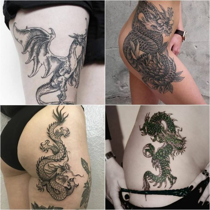 dragon tattoos - dragon tattoos meaning - dragon tattoo on thigh