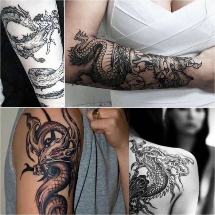 dragon tattoos - dragon tattoos on arm - dragon tattoos meaning