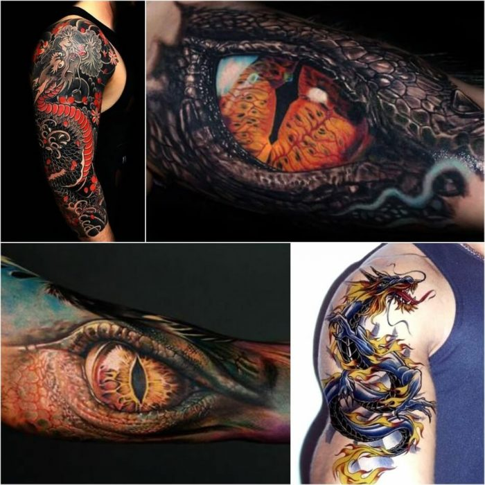 dragon tattoos - dragon tattoos on forearm - dragon eye tattoos