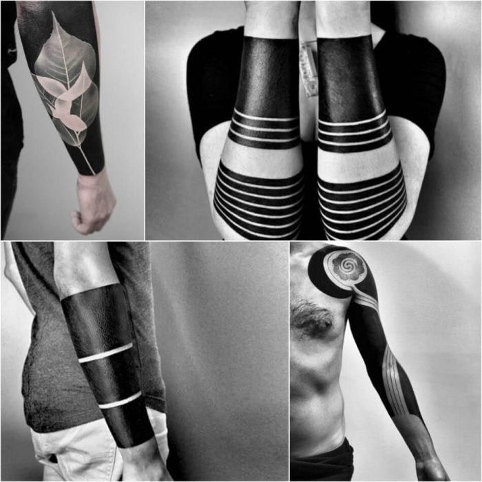 geometric blackwork tattoos - blackwork tattoo - blackwork tattoo for men