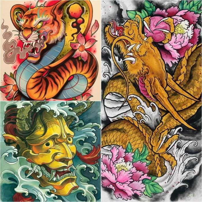 japanese tattoos - dragon japanese tattoo - japanese tattoos meanings