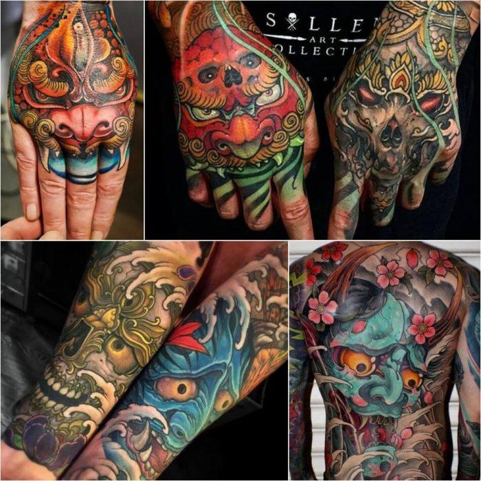 japanese tattoos - japanese tattoos for men - hannya mask tattoo