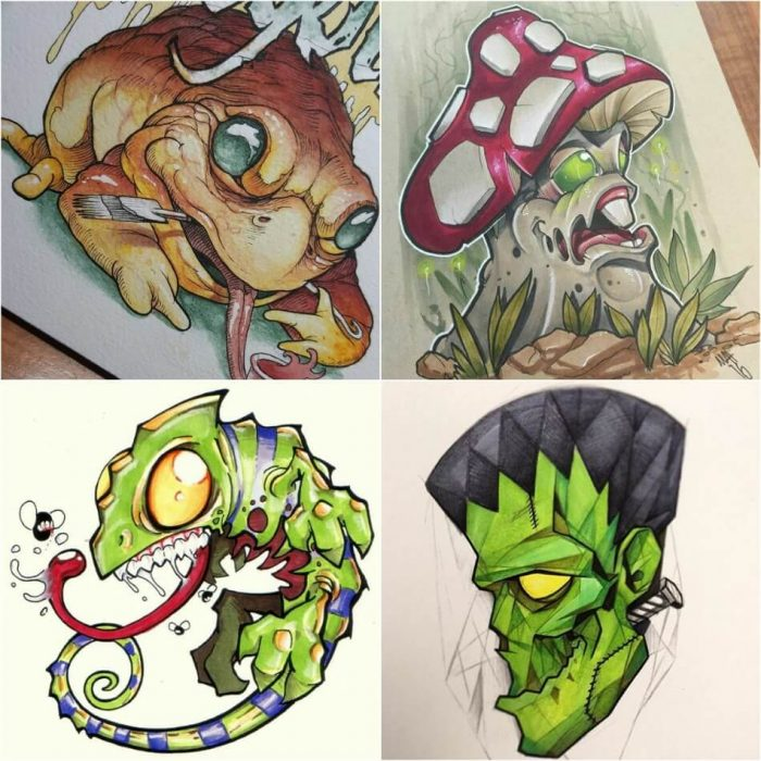 new school tattoo - new school tattoo drawings - new school tattoo flash