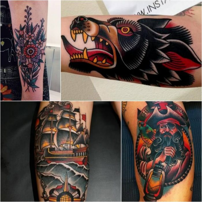 old school tattoos - old school tattoo design -old school tattoos for men