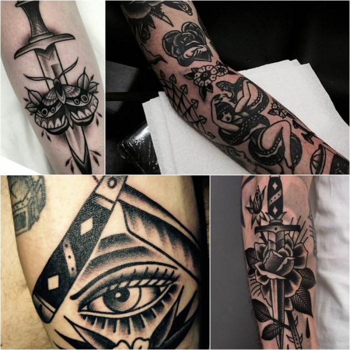 old school tattoos - old school tattoos black and grey - old school tattoos on hands