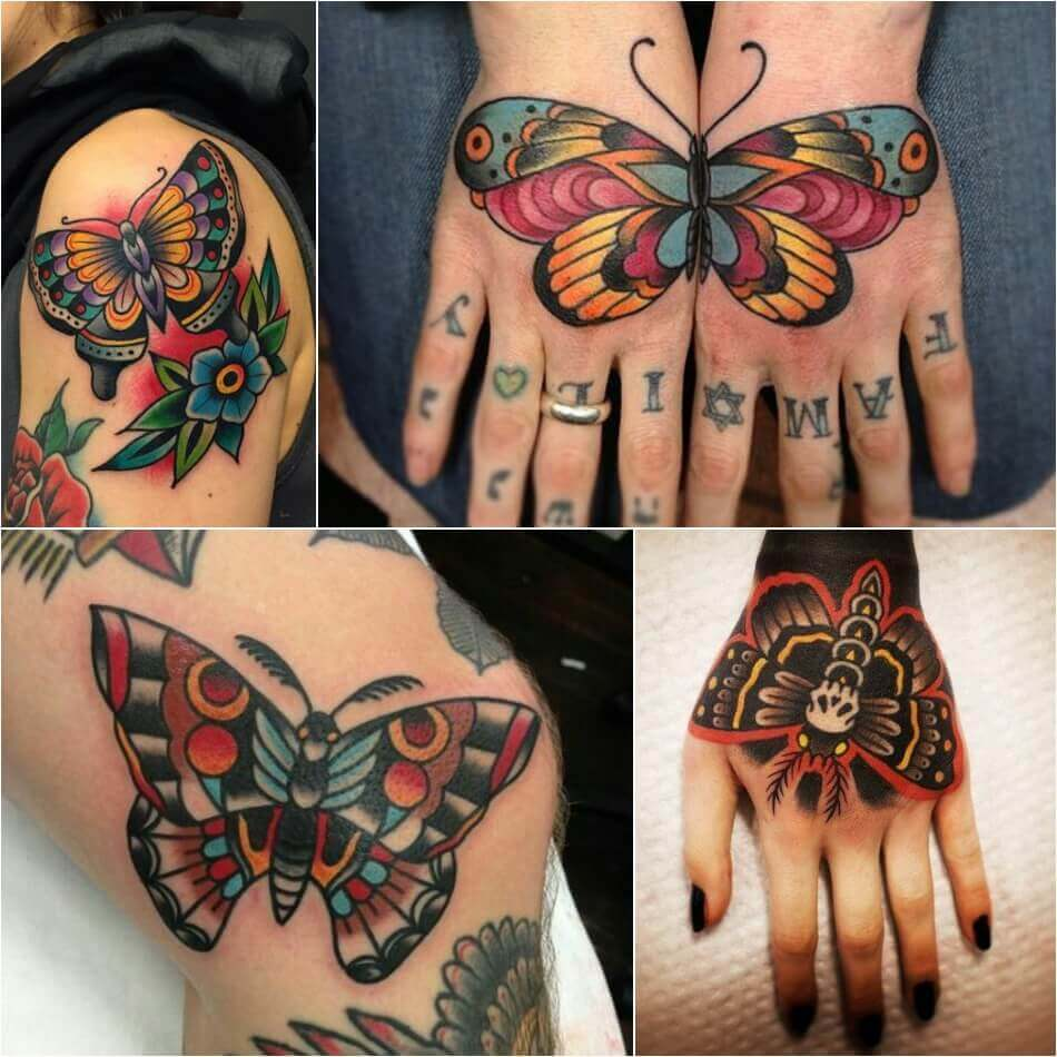old school tattoos - old school tattoos butterfly - old school tattoo design