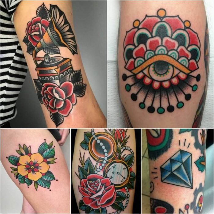 old school tattoos - old school tattoos design - traditional old school tattoo