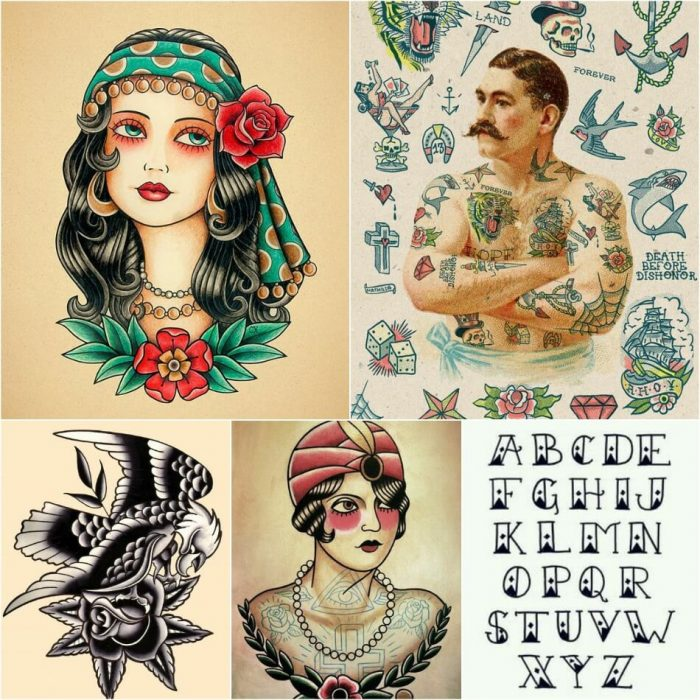 old school tattoos - old school tattoos flash - old school tattoos designs