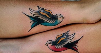 old school tattoos - old school tattoos swallows - old school bird tattoo