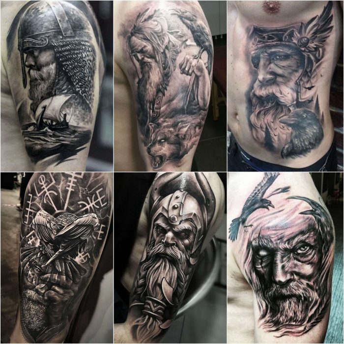 scandinavian tattoos - odin tattoo - norse tribal tattoos