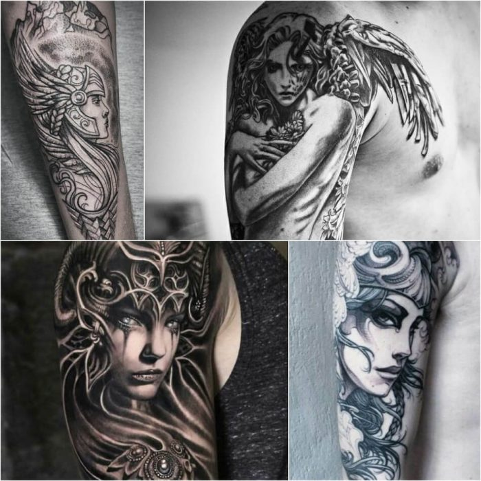 scandinavian tattoos - valkyrie tattoo - norse tribal tattoos