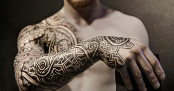 scandinavian tattoos - viking tattoos sleeves - norse tribal tattoos
