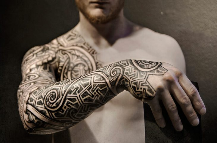a51d00019e153 scandinavian tattoos - viking tattoos sleeves - norse tribal tattoos.  Viking Tattoos are very popular among men and women ...