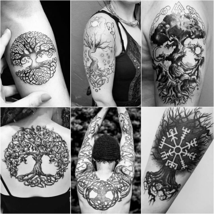 scandinavian tattoos - yggdrasil tattoo - nordic tree of life tattoo