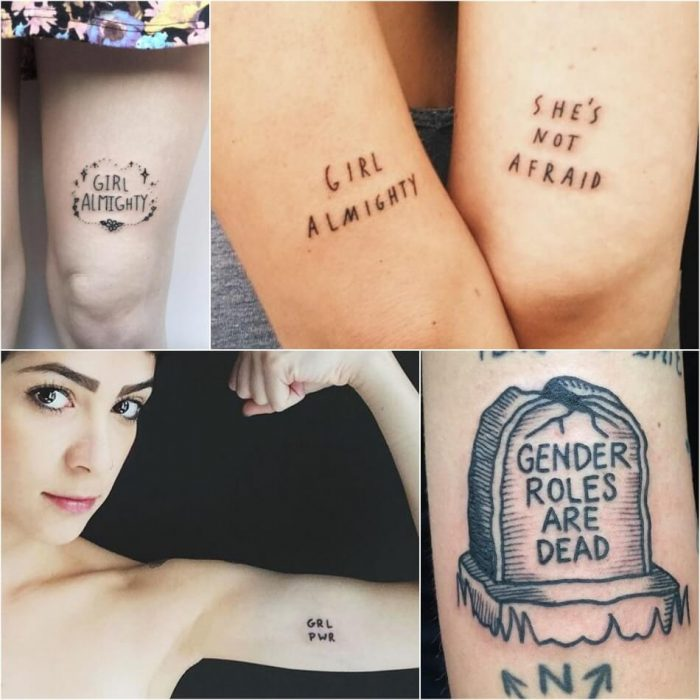 tattoo feminist - girl power tattoo ideas - feminist symbol