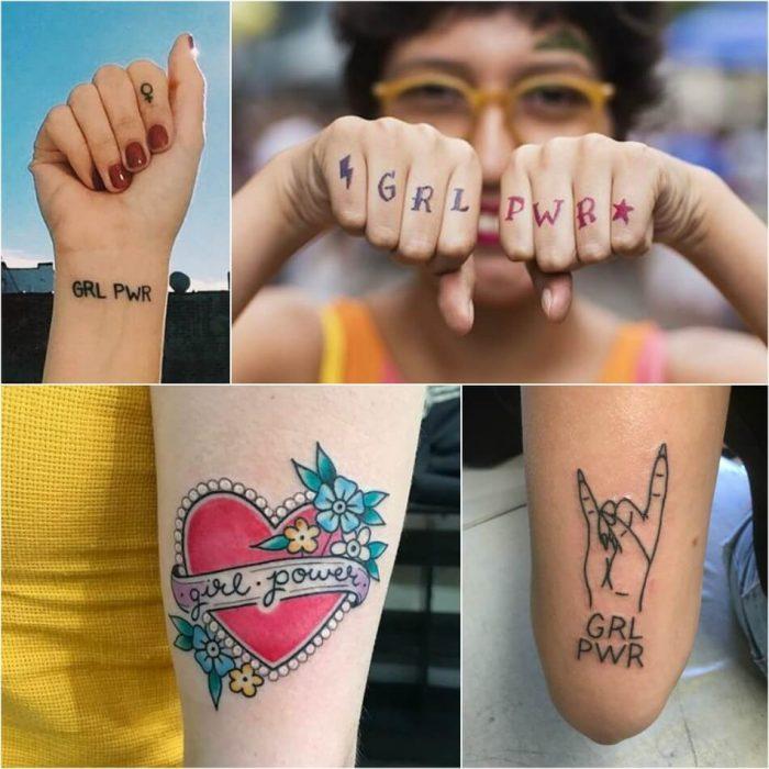 tattoo feminist - grl pwr tattoo meaning - feminist symbol