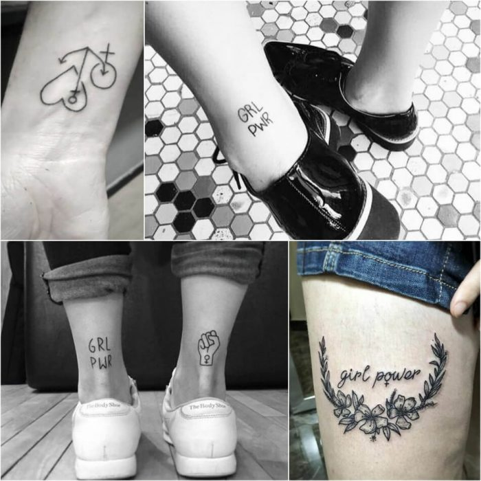 tattoo feminist - grl pwr tattoo meaning - symbols of feminism in art