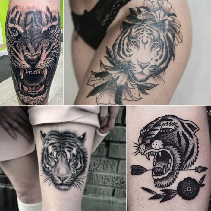 tiger tattoos - tiger tattoos meaning - tiger tattoo black and white