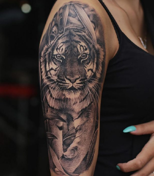 tiger tattoos - tiger tattoos meaning - tiger tattoos on arm