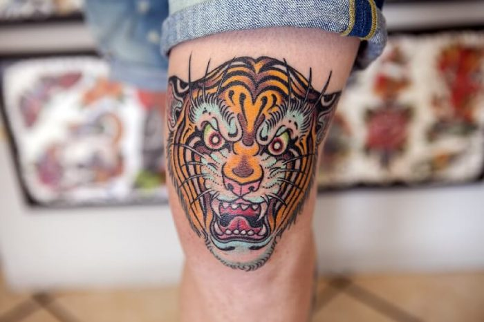 tiger tattoos - tiger tattoos meaning - tiger tattoos on leg