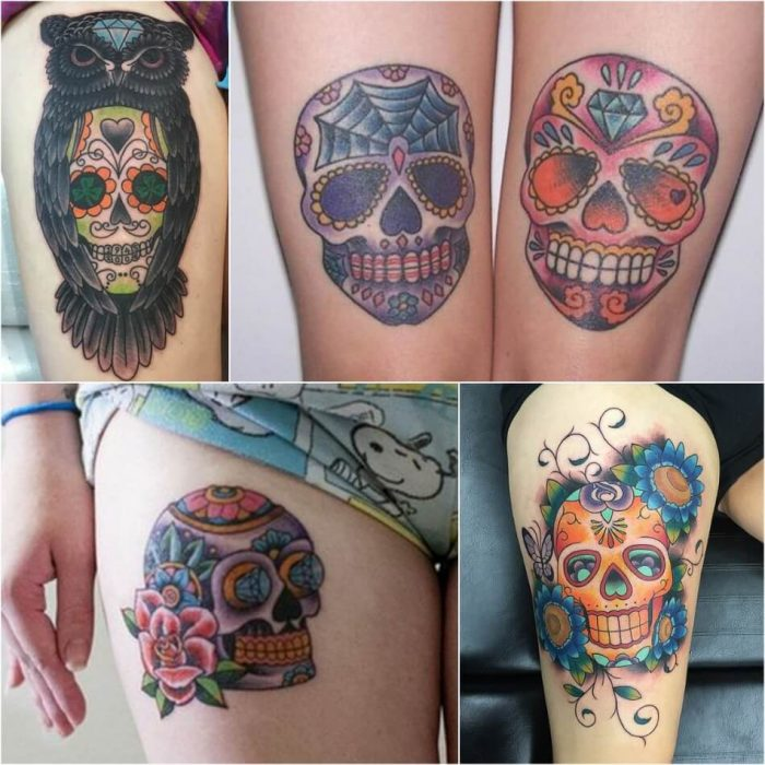 mexican skull tattoo - sugar skull tattoo - sugar skull tattoo designs