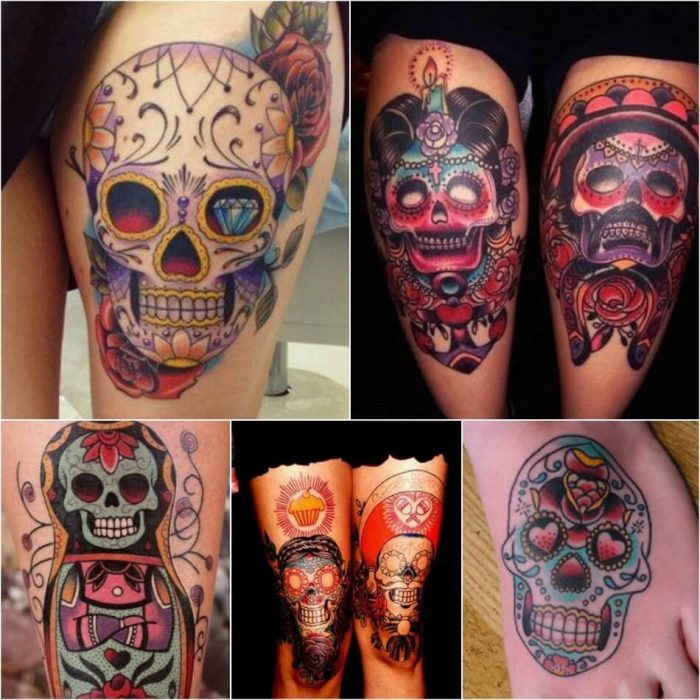 mexican skull tattoo - sugar skull tattoo - sugar skull tattoos meaning