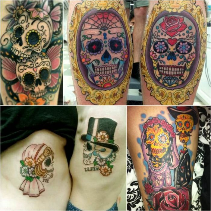 mexican skull tattoo - sugar skull tattoo - calavera skull tattoo