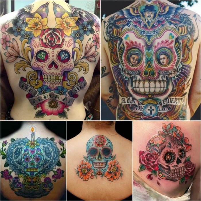 mexican skull tattoo - sugar skull tattoos for guys - sugar skull tattoo