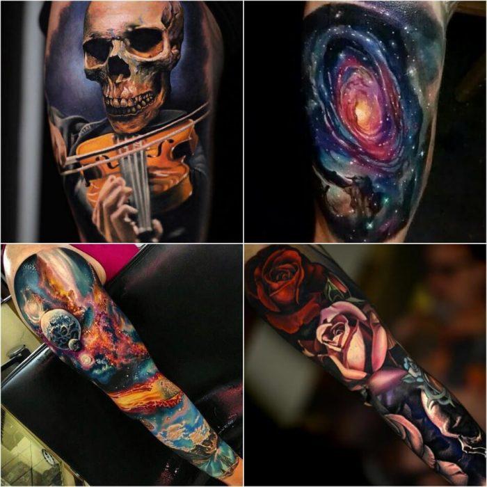 tattoo realism - realism tattoo sleeve - hyper realistic tattoos