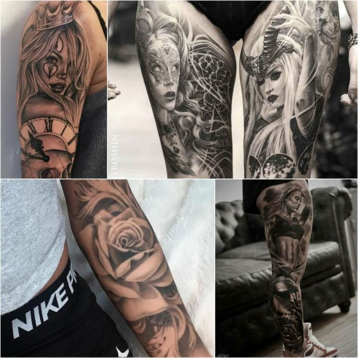 tattoo realism - realism tattoo sleeve - realism tattoos black and grey