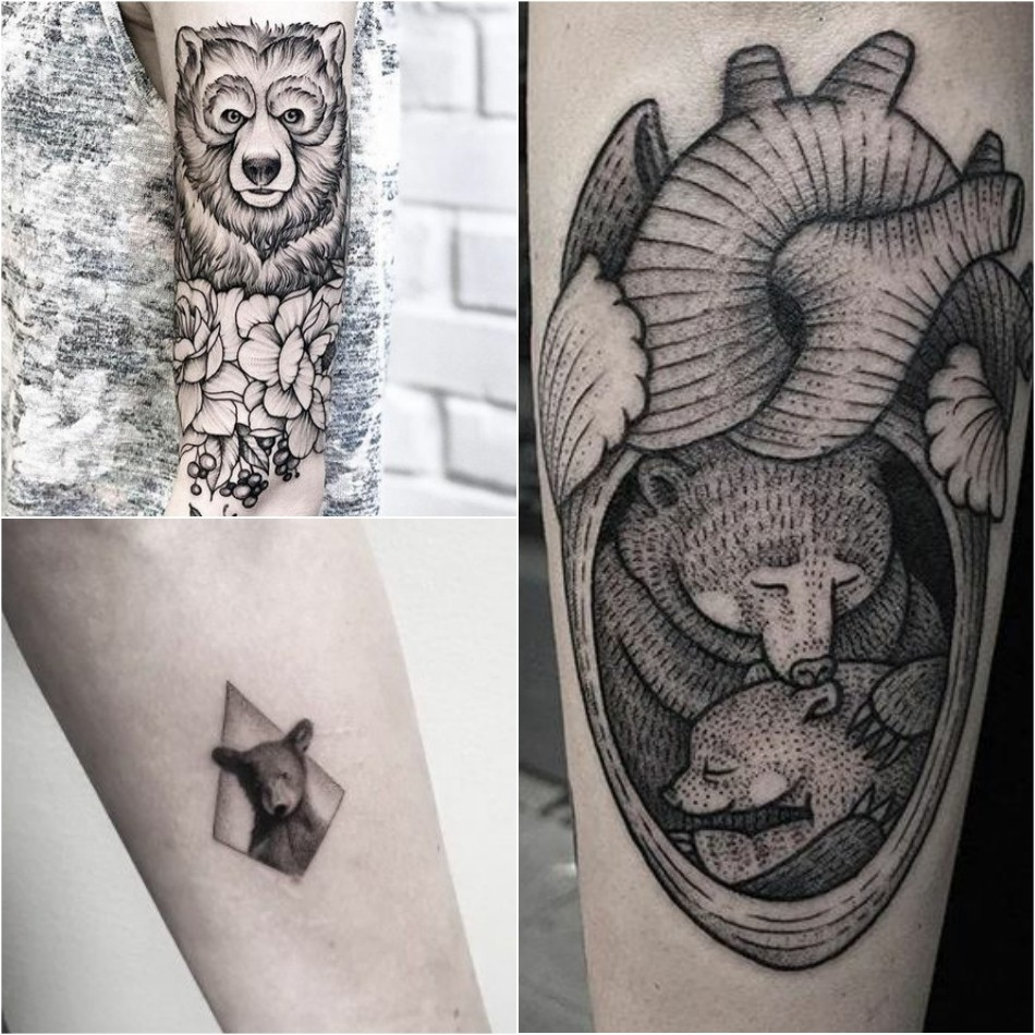 bear tattoo - bear tattoo for girl - cute bear tattoo