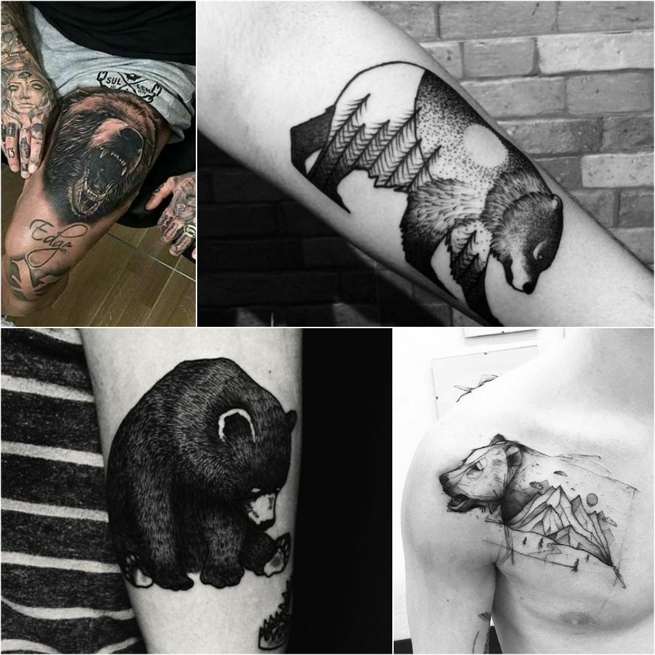 bear tattoo - bear tattoo for men - bear tattoo meanings