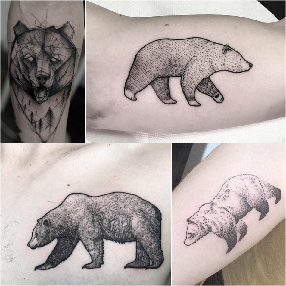bear tattoo - bear tattoo for men - simple bear tattoo