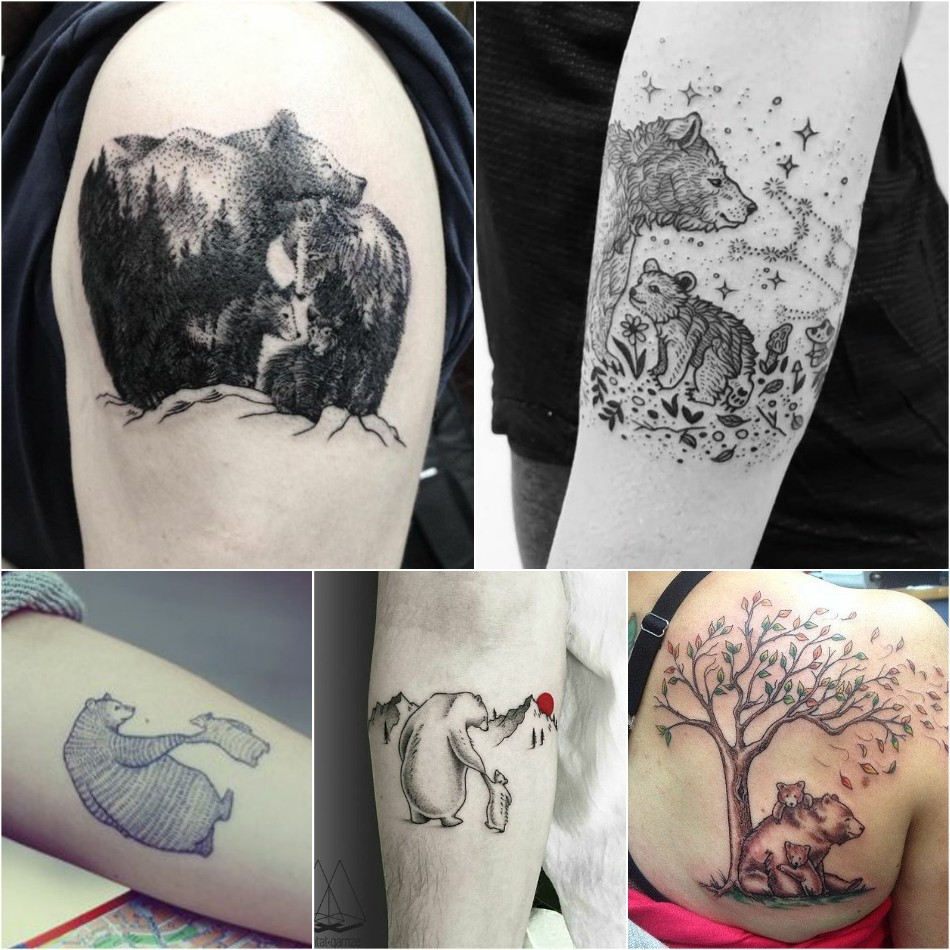 bear tattoo - simple bear tattoo - cute bear tattoos