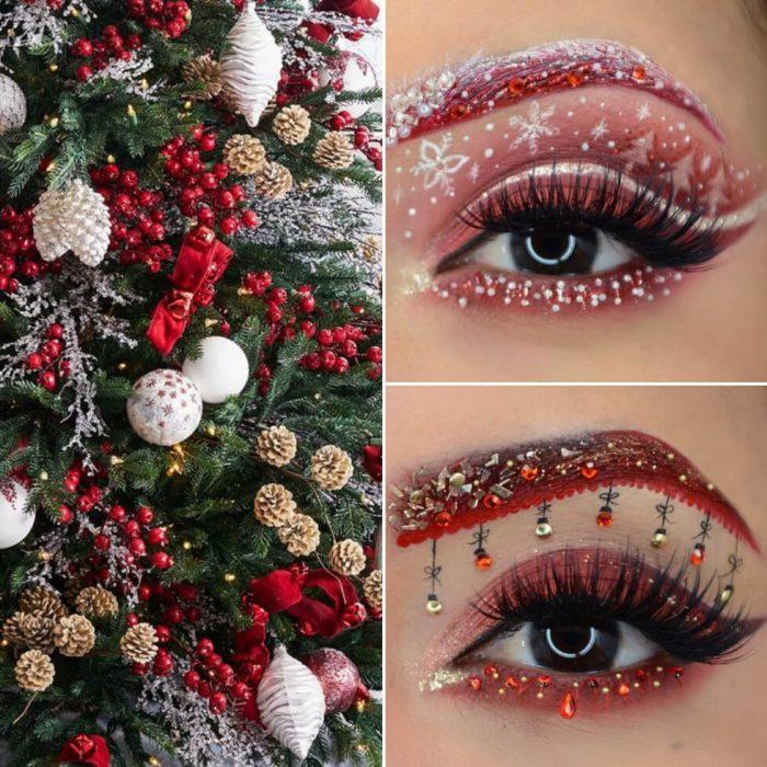 christmas makeup - eye makeup - festive eye makeup